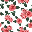 Wallpaper retro pattern rose - Stock Vector
