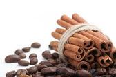 Coffee and cinnamon — Stock Photo