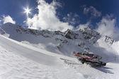 Ratrak, grooming machine, special snow vehicle — Stock Photo