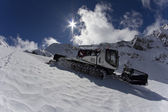 Ratrak, grooming machine, special snow vehicle — Foto Stock
