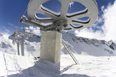 Giant wheel from the top of a ski lift — Stock Photo