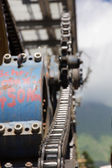 Chairlift mechanical pulleys in ski resort — Stock Photo