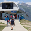 The upper cable way station — Stock Photo