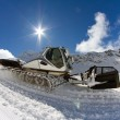 Ratrak, grooming machine, special snow vehicle — Stock Photo
