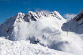 The mountains in Krasnaya Polyana, Sochi, Russia — Foto Stock