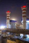 Pipes of thermal power plant — Stock Photo