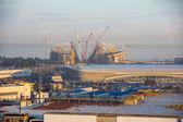 Construction of the olympic stadium — Stockfoto