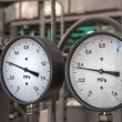 Manometers in the boiler — Stockfoto