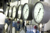 Manometers in the boiler — Stock Photo