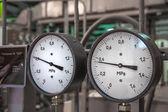 Manometers in the boiler — Stock Photo