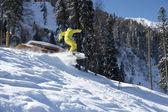 Snowboard freerider — Stock Photo