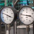 Stok fotoğraf: Manometers in the boiler