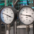 Stock Photo: Manometers in the boiler