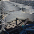 Stock Photo: Industrial ventilation system, roof of the plant
