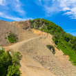 Scree on the mountain slope — Stock Photo