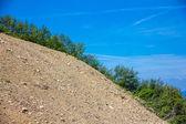 Scree on the mountain slope — Stock Photo