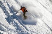 Freerider をスノーボードします。 — ストック写真