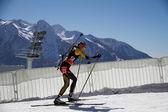 "SOCHI, RUSSIA - MARCH 7: World Cup Biathlon in Sochi on march 7, 2013. The combined ski-biathlon complex ""Laura"". — Stock Photo"