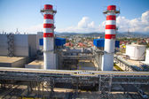 Smoke pipes of power plant — Stock Photo