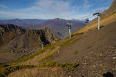 Chairlift in mountains of Krasnaya Polyana — Stock Photo