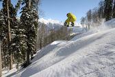 Snowboard freeride — Foto de Stock