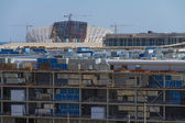 SOCHI, RUSSIA - JUNE 20: Construction of the olympic stadium on June 20, 2012 in Sochi, Russia — Stock Photo