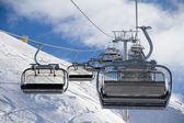 Chairlift in ski resort Krasnaya Polyana, Russia — Stock Photo