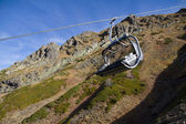 крісельна канатна дорога в горах червона поляна — Foto Stock