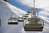 Chairlift in ski resort Krasnaya Polyana, Russia — Stock Photo