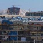 "SOCHI, RUSSIA - JUNE 20: Construction of the olympic stadium ""Fisht."" — Stock Photo #41573799"