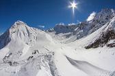 Mountain landscape of Krasnaya Polyana, Sochi, Russia — Stock Photo