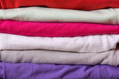Pile of colorful clothes — Stock Photo