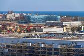 "SOCHI, RUSSIA - JUNE 20, 2013: Construction of the stadium ""Iceberg."" — Foto Stock"