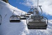 Chairlift in ski resort Krasnaya Polyana, Russia — Foto de Stock