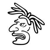 Se enfrentan en el estilo de los indios mayas, ilustración vectorial — Vector de stock
