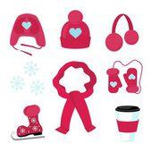 Winter accessories — Stock Vector