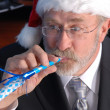 Senior Businessman Christmas Party — Stock Photo #31442259