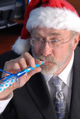 Senior Businessman Christmas Party — Stock Photo