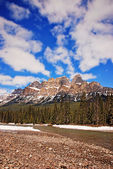 Castle Mountain in Banff National Park Canada — Stock Photo