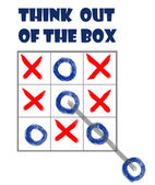 Think out of the box — Stock Photo