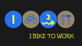 I bike to work — Stock Photo