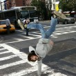 Stock Photo: Boy dancing break dance