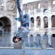 Stock Photo: Guy break dancer