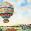 Hot air balloon illustration — Stock Photo