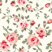 Wallpaper with roses — Stock Vector