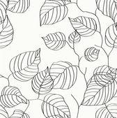 Wallpaper leaves — Stock Vector