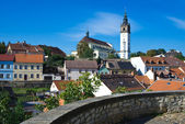 Panorama Czech town Litomerice with tower — Stock Photo