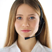 Call center woman operator — Stock Photo