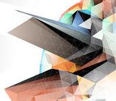 Abstrakt 3d vektor hintergrund — Stockvektor