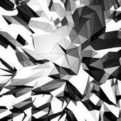 Grayscale triangular background — Stock Vector